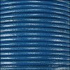 2mm round Indian leather - dark blue - 25m SPOOL