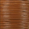 2mm round Indian leather - caramel - 25m SPOOL