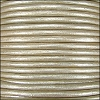 1.5mm round Indian leather - vintage pearl METALLIC - per 25m SPOOL