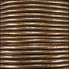 2mm round Indian leather - brown METALLIC - 25m SPOOL