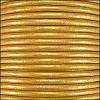 1.5mm round Indian leather - gold METALLIC - per 25m SPOOL
