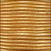 1.5mm round Indian leather - lt old gold METALLIC - per 25m SPOOL