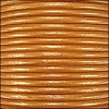 1.5mm round Indian leather - old gold METALLIC - per 25m SPOOL