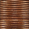 1.5mm round Indian leather - dark copper METALLIC - per 25m SPOOL
