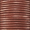 1.5mm round Indian leather - copper METALLIC - per 25m SPOOL