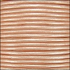 1.5mm round Indian leather - lt salmon METALLIC - per 25m SPOOL