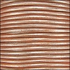 1.5mm round Indian leather - lt musk METALLIC - per 25m SPOOL