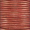 1.5mm round Indian leather - rust METALLIC - per 25m SPOOL