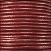 1.5mm round Indian leather - maroon METALLIC - per 25m SPOOL