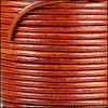3mm round Indian leather - natural red - 25m SPOOL