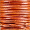 3mm round Indian leather - natural orange - 25m SPOOL