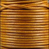 3mm round Indian leather - natural mustard - 25m SPOOL
