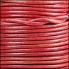 3mm round Indian leather - natural cerise - 25m SPOOL