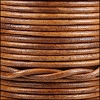 3mm round Indian leather - natural brown - 25m SPOOL