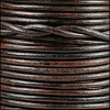 3mm round Indian leather - natural dark brown - 25m SPOOL