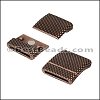 20mm flat DOTS magnetic clasp ANT COPPER - per 10 pieces