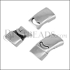 14 x 4mm PLAIN magnetic clasp ANT SILVER - 10 pcs