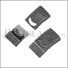 14 x 4mm DOTTED magnetic clasp ANT SILVER - 10 pcs