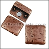 20mm flat TEXTURED magnetic clasp ANT COPPER - per 10 pieces