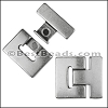 30mm flat T LATCH magnetic clasp - per 5 pieces