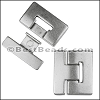 40mm flat T LATCH magnetic clasp - per 5 pieces
