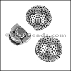 10mm flat GOLF BALL magnetic clasp ANTIQUE SILVER - 10 clasps