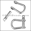Multi SHACKLE PIN magnetic clasp ANTIQUE SILVER - per 10 clasps