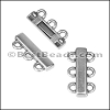 2mm round 3 LOOP PLAIN clasp ANT SILVER - per 10 pieces