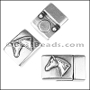 10mm flat HORSE HEAD magnetic clasp ANTIQUE SILVER - per 10 clasps
