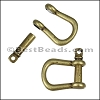 Multi SHACKLE PIN magnetic clasp ANTIQUE BRASS - per 10 clasps