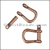Multi SHACKLE PIN magnetic clasp ANTIQUE COPPER - per 10 clasps