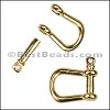 Multi SHACKLE PIN magnetic clasp GOLD - per 10 clasps