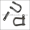 Multi SHACKLE PIN magnetic clasp GUNMETAL - per 10 clasps