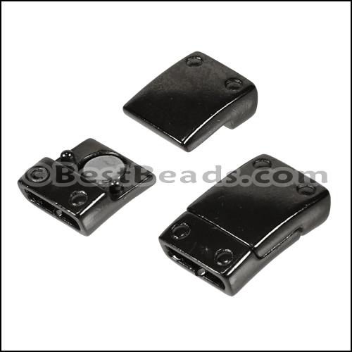 10mm Flat Rivet Magnetic Clasp Gun Metal Per 10 Clasps