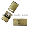 10mm DELUX magnetic clasp ANTIQUE BRASS - per 10 clasps