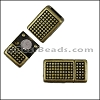 5mm flat POLKA DOT magnetic clasp ANTIQUE BRASS - per 10 clasps