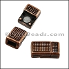 5mm flat POLKA DOT magnetic clasp ANTIQUE COPPER - per 10 clasps