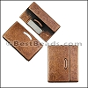 30mm flat DELUX magnetic clasp ANTIQUE COPPER- per 5 clasps