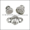 10mm LOLLIPOP magnetic clasp ANTIQUE SILVER - per 10 clasps