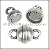 12mm LOLLIPOP magnetic clasp ANTIQUE SILVER - per 10 clasps