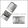 13mm DELUX magnetic clasp ANTIQUE SILVER - per 10 clasps