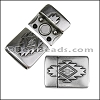15mm flat SOUTHWESTERN magnetic clasp ANT SILVER - per 10 clasps