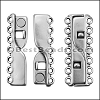 7 LOOPS magnetic clasp ANTIQUE SILVER - per 10 pieces