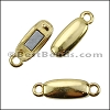 SINGLE STRAND magnetic clasp SHINY GOLD - per 10 pieces