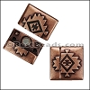 20mm flat SOUTHWESTERN magnetic clasp ANT COPPER - per 10 clasps