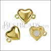 HEART magnetic clasp SHINY GOLD - per 10 clasps