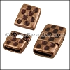 10mm flat HAMMERED magnetic clasp ANT COPPER - per 10 clasps