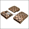 10mm flat SCALES magnetic clasp ANT COPPER - 10 clasps