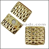 20mm flat HAMMERED magnetic clasp GOLD - per 10 clasps