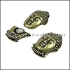 10mm flat BUDDHA magnetic clasp ANT BRASS - per 10 clasps